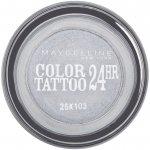 Maybelline Color Tattoo 24h oční stíny 50 Eternal Silver 4 g