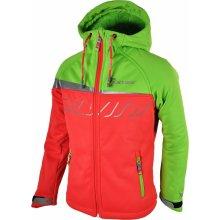 Carpellone CJ513 dětská softshellová bunda pink-green