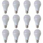 vidaXL Teple bílé LED žárovky 12 ks 9 W / E27