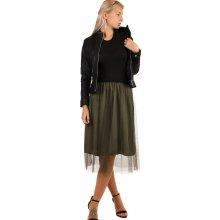 TopMode romantická tylová sukně 12SE90 khaki e9ea6259dc
