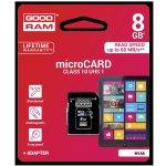 Goodram microSDHC 8GB UHS-I + adaptér M1AA-0080R11