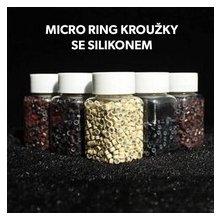 Micro ring kroužek se silikonem 5 mm - BLOND