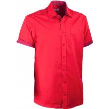 Aramgad červená košile kombinovaná rovná 40336