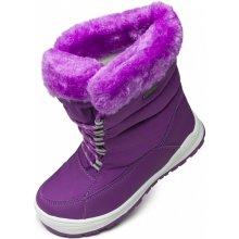 Alpine Pro Vestal boysenberry dětská zimní obuv