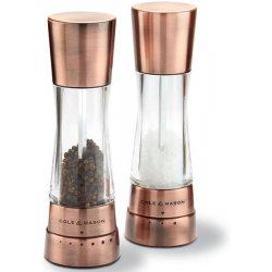 Cole and Mason Derwent copper Sada mlýnků na pepř a sůl 2 ks