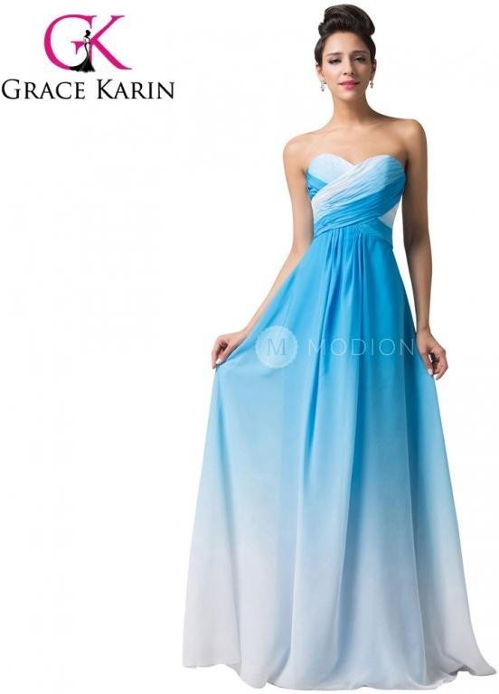 64cc5956b26 Plesové šaty Grace Karin společenské šaty dlouhé CL6173-2 modrá ...