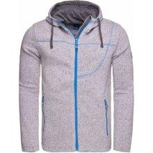 Pánský sportovní svetr s kapucí LOAP GOSIP OLM1725 SVĚTLE ŠEDÁ