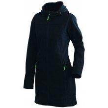 Lambeste dámská softshellová bunda prodloužená černá / zelená