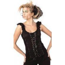 Gotický korzetový top dámský s klipsami