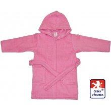 Dětský froté župan růžový se zipem a UPF50+
