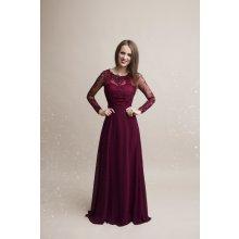 Eva   Lola společenské šaty Whitney vínová 8eb446d553