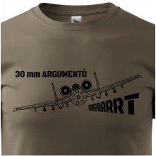 Bezvatriko.cz 0308 Pánské tričko A-10 30 mm argumentů Army 29