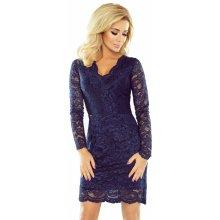 387086fdd0b Společenské dámské šaty s dlouhým rukávem krajkové tmavě modrá
