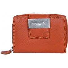 Oranžová kvalitní kožená peněženka