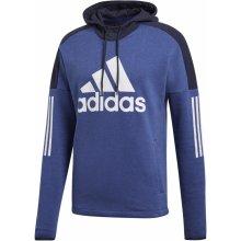 bd32c6ac59c Adidas Performance Mikina s kapucí SOLID LOGO Pulovr FLEECE modrá