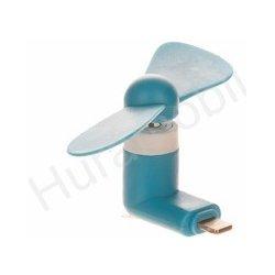 Mini větráček pro mobilní telefony s microUSB konektorem modrá