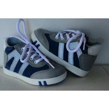 Jonap celoroční kožená obuv 014 modrošedá