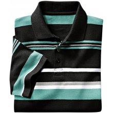 Blancheporte Proužkované polo tričko s dlouhými rukávy černá
