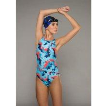 Maru Vault Back Swimming Costume Ladies Mercury Rising