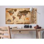 Stírací mapa světa vintage I - 100x50 cm - Murando DeLuxe