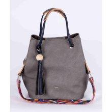 Carine stylová menší kabelka šedá