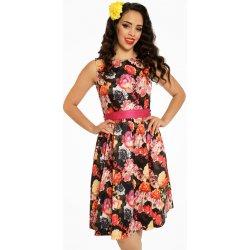 Barevné šaty s květy Lindy Bop Audrey a63d62e0de