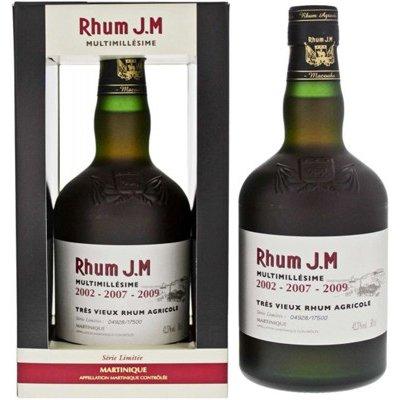 J.M Rhum Multimillésime 0,5 l 2002 - 2007 - 2009 42,3%