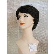 Natur Hair Paruka Nancy z umělých vlasů Hnědá tmavá