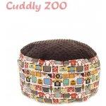 Dětský taburet Cuddly Zoo Dědeček hnědý