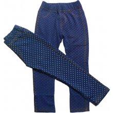 280d19f8a2f GRACE G50036 Dívčí legíny Modrá-růžový puntík