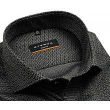 Eterna Slim Fit - luxusní šedo-černá košile s vetkaným vzorem 74036984c4