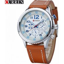 Curren CR8179 White/Braun/Blue