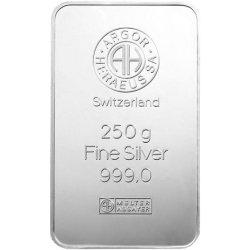 Argor Heraeus Investiční stříbrný slitek 250g