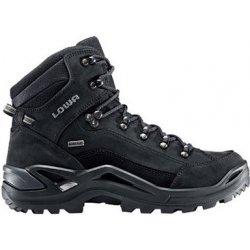 Lowa Renegade GTX Mid wide black black pánské nepromokavé kožené trekové  boty skate boty cdbf954f88