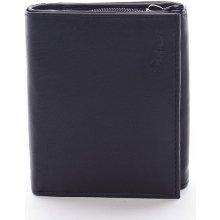 Kožená Euro€ peněženka DELAMI černá