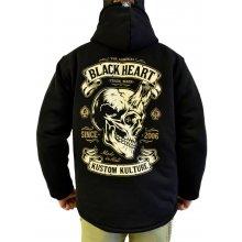 89f60398001 Blackheatheart Mikina zateplená BLACK HEART Devil Skull Lined černá