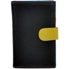 Hellix dámská kožená peněženka P 1251 black multicolor černá