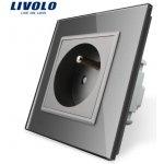 LIVOLO VL-C7C1FR-15 Elektrická zásuvka FR - stříbrná