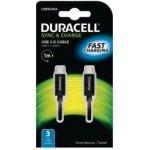 Duracell USB5030A propojovací USB-C -> USB-C, 1m, černý