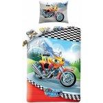 Halantex Povlečení Fast Wheel Club Motorka Bavlna 140x200 70x90