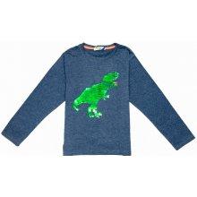 Chlapecké triko s flitry-KUGO M0133, Sedomodrá