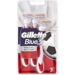 GILLETTE BLUE 3 RED&WHITE 3ks