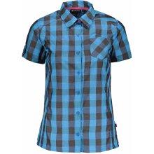 ALPINE PRO LURINA dámská košile s krátkým rukávem LSHJ011 modrá