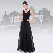 3ec6917bfe31 Dlouhé společenské šaty hrubší ramínka na svatbu i pro těhotné tmavě modrá
