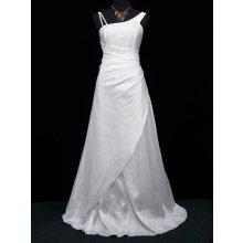 Bílé dlouhé svatební společenské šaty