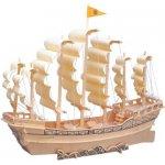 Woodcraft 3D puzzle dřevěná skládačka plachetnice P131