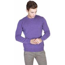 Trussardi Pánský svetr s kulatým výstřihem fialová