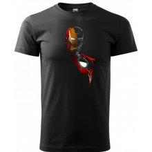 Bezvatriko.cz 0132 Pánské tričko Iron Man Černá