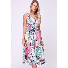 Revdelle letní midi šaty Jordanie barevná béžová 9e6181ed0f