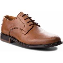 af9c90fbd5a Polobotky TOMMY HILFIGER Color Block Heel Leather Shoe FM0FM01616 Cognac 606